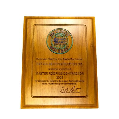 Master Roofing Contractor Awards 2003